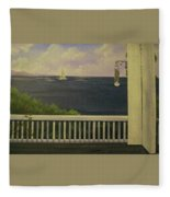 Coffee With A View Fleece Blanket