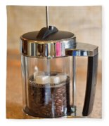 Coffee With Sugar Fleece Blanket