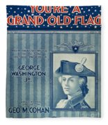 Cohan: Sheet Music, 1906 Fleece Blanket