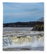Cohoes Falls New York Fleece Blanket