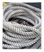 Coiled Rope  Fleece Blanket