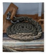 Coiled Rope Fleece Blanket