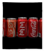 Coke Cans Fleece Blanket