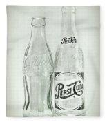 Coke Or Pepsi Black And White Fleece Blanket