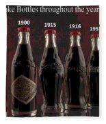 Coke Through Time Fleece Blanket