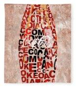 Coke Typography Fleece Blanket