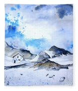Col Du Pourtalet In The Pyrenees 01 Fleece Blanket