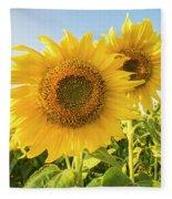 Colby Farms Sunflower Field Closeup Fleece Blanket