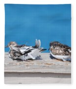 Cold Birds Fleece Blanket