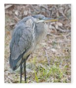 Cold Blue Heron Fleece Blanket