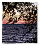 Cold Florida Sunset Fleece Blanket