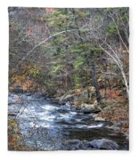 Cold Mountain Stream Fleece Blanket