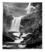 Cold Spring Morning At Kaaterskill Falls II Fleece Blanket