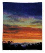 Cold Sunrise Fleece Blanket