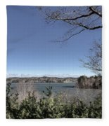 Cold Windy Morning Fleece Blanket