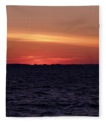 Cold Winter Sunset 1 Fleece Blanket