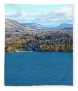Coldstream Valley In Autumn Fleece Blanket