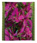 Coleus Fleece Blanket