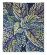 Coleus Leaves Fleece Blanket