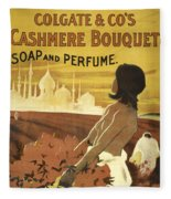 Colgate Cashmere Bouquet Advertising Poster Fleece Blanket