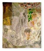 Collage 23 Faces Fleece Blanket