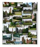 Collage Cornell University Ithaca New York Vertical 02 Fleece Blanket