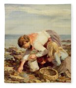Collecting Shells  Fleece Blanket