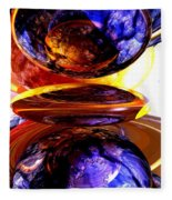 Colliding Forces Abstract Fleece Blanket