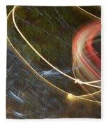 Colliding Worlds  Fleece Blanket by Michael Lucarelli