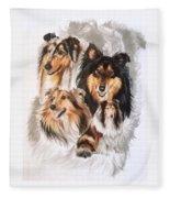 Collie Revamp Fleece Blanket