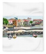 Collioure,    Cote De Vermeille Fleece Blanket