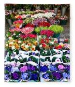 Cologne Flowers Fleece Blanket