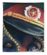 Colonel Nose Knows Close-up Fleece Blanket