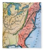 Colonial America Map Fleece Blanket