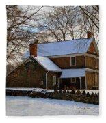Colonial Christmas Fleece Blanket