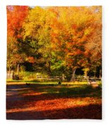 Colonial Fall Colors Fleece Blanket