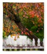 Colonial Fall Colors Fleece Blanket