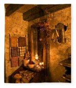 Colonial Kitchen Evening Fleece Blanket