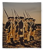 Colonial Soldiers On Parade Fleece Blanket