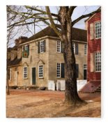 Colonial Street Scene Fleece Blanket