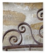 Colonial Wrought Iron Gate Detail Fleece Blanket