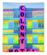 Colony Hotel Fleece Blanket