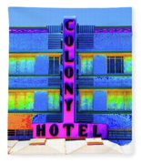 Colony Hotel Palm Fleece Blanket