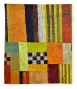 Color And Pattern Abstract Fleece Blanket