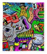 Color Bash Acid Tweeter Fleece Blanket