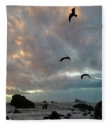 Color Burst Sunset Fleece Blanket