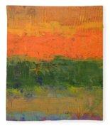 Color Collage Four Fleece Blanket