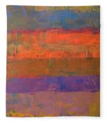 Color Collage Two Fleece Blanket