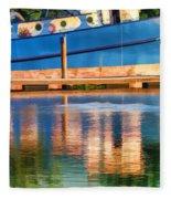 Color Dancing On Water Fleece Blanket
