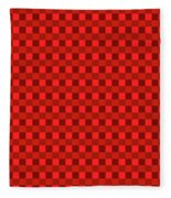 Color Dots On Red Drawing Abstract #7 Fleece Blanket